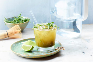 Green tea mocktail